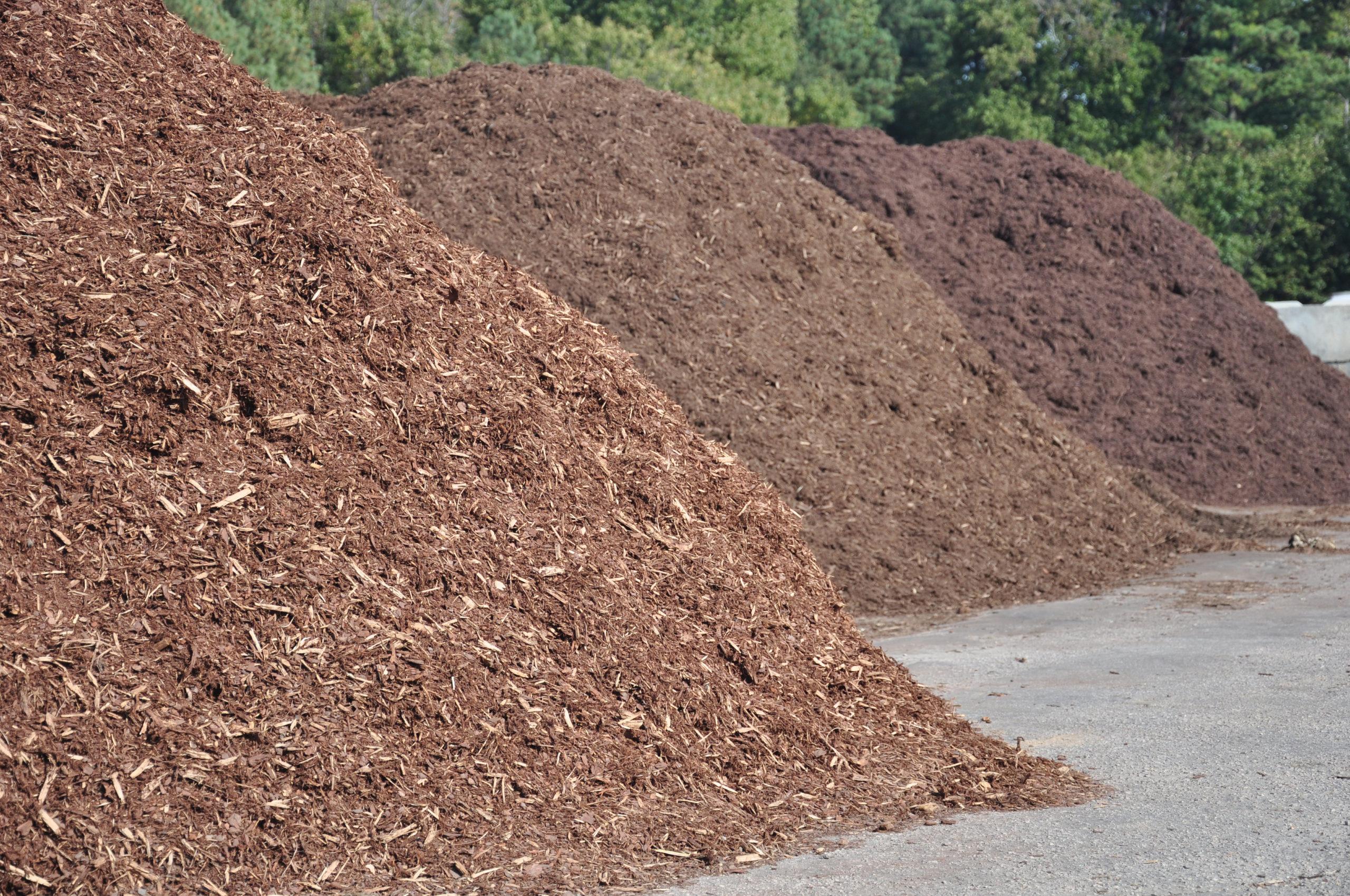 piles of mulch